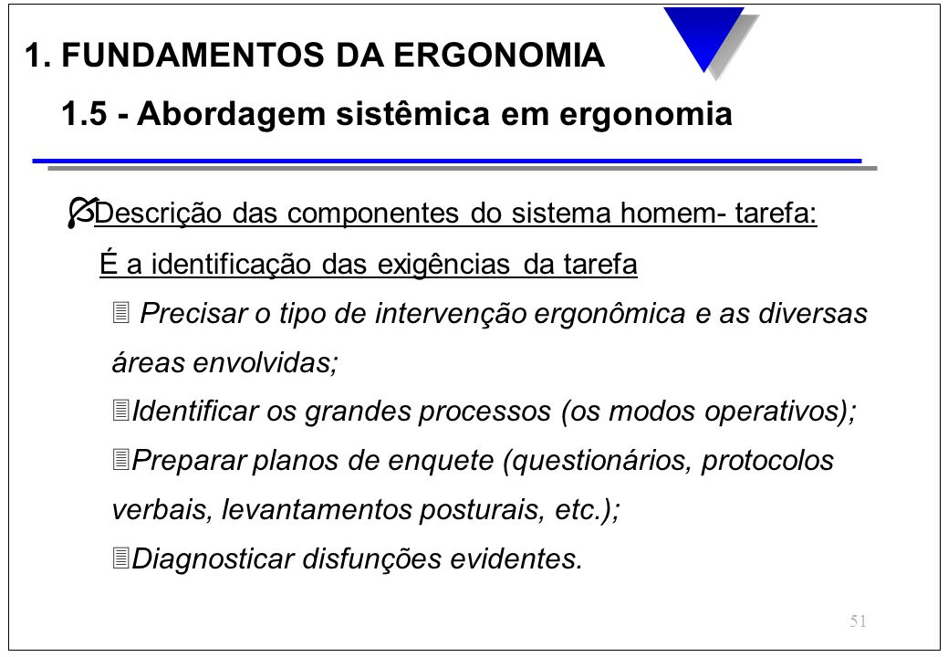 1. FUNDAMENTOS DA ERGONOMIA