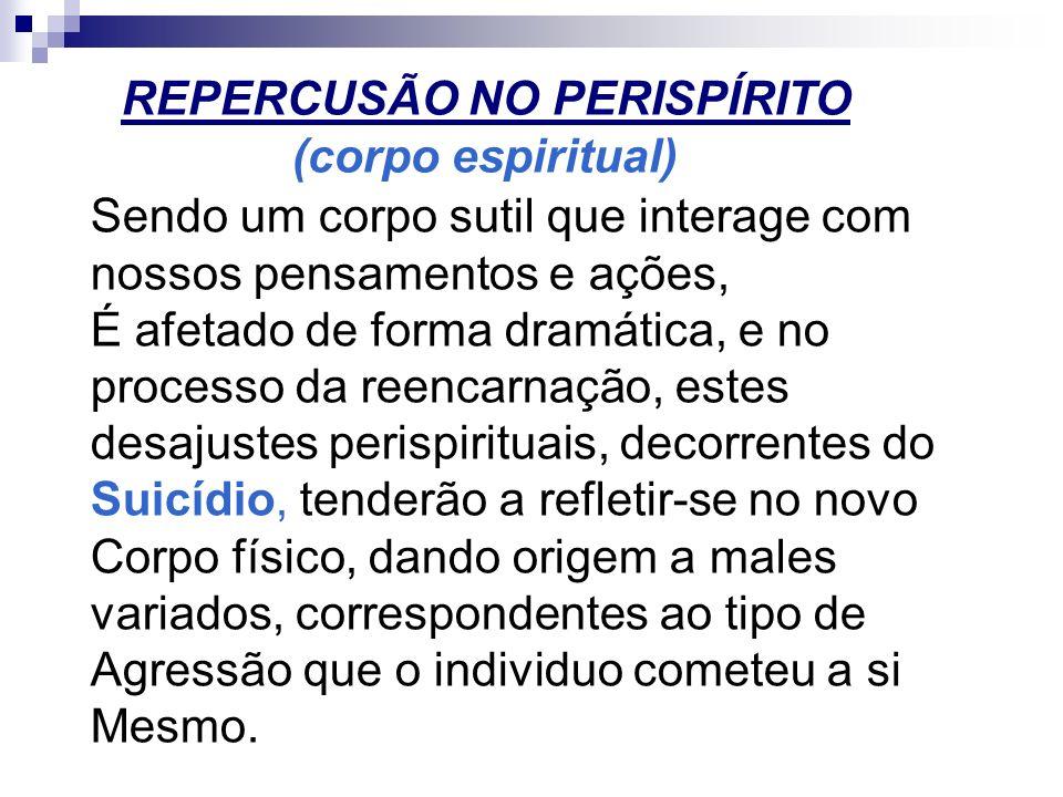 REPERCUSÃO NO PERISPÍRITO