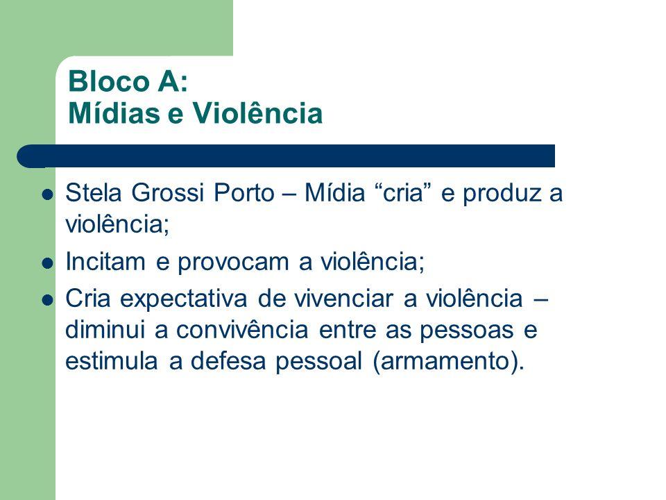 Bloco A: Mídias e Violência