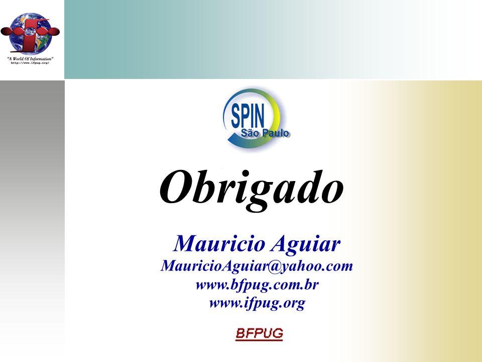 Obrigado Mauricio Aguiar MauricioAguiar@yahoo.com www.bfpug.com.br