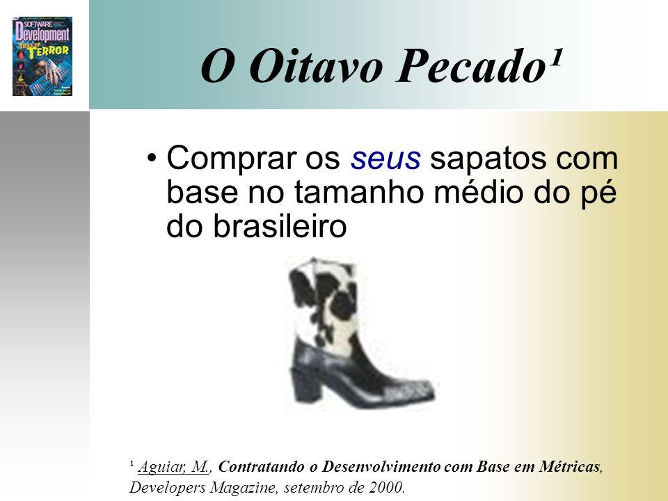 O Oitavo Pecado¹ Comprar os seus sapatos com base no tamanho médio do pé do brasileiro. Slide 11 - MISSION.