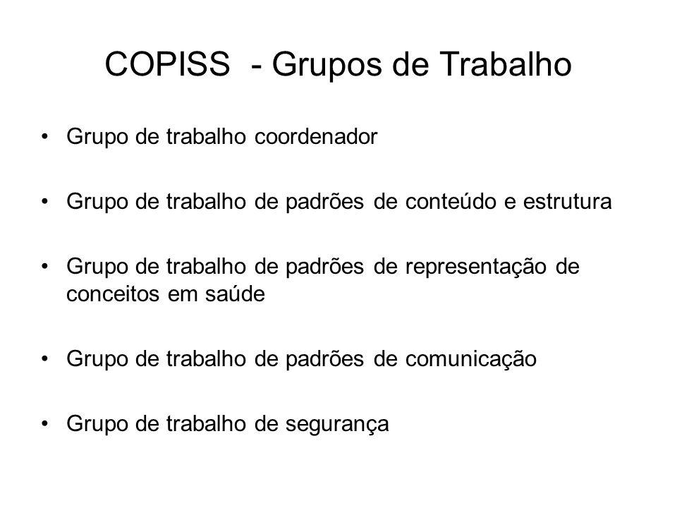 COPISS - Grupos de Trabalho