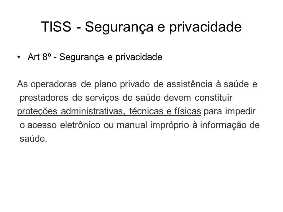 TISS - Segurança e privacidade