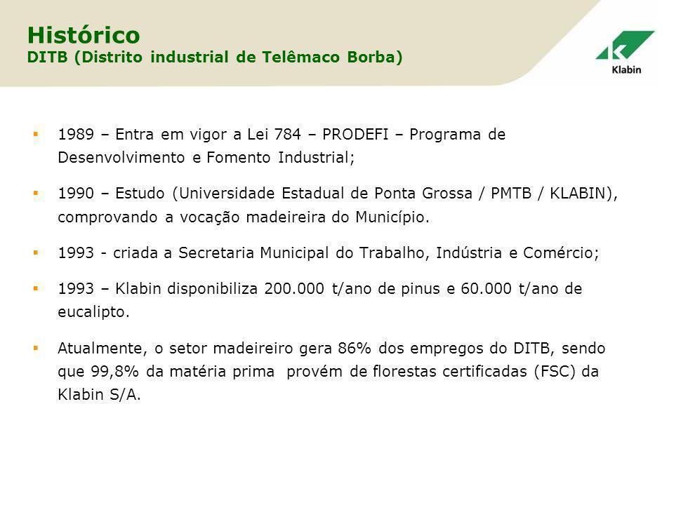 Histórico DITB (Distrito industrial de Telêmaco Borba)