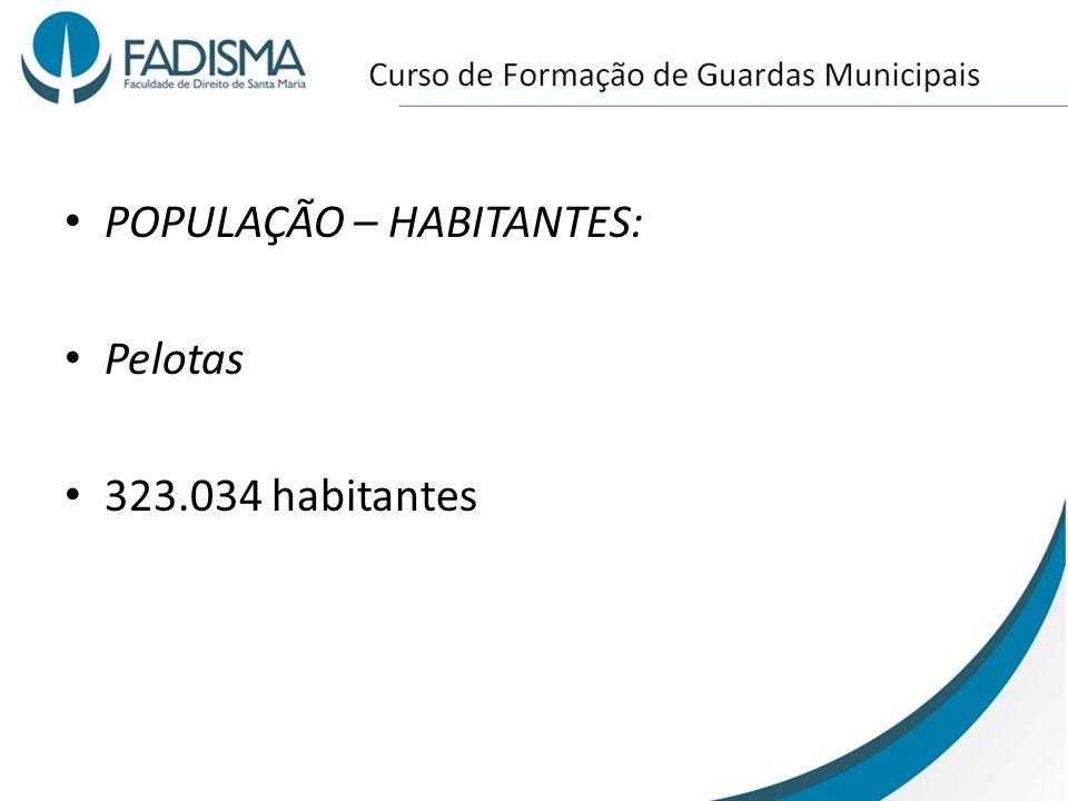 POPULAÇÃO – HABITANTES: