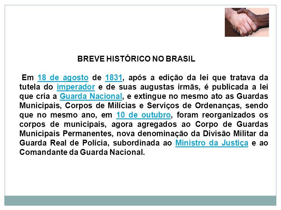 BREVE HISTÓRICO NO BRASIL