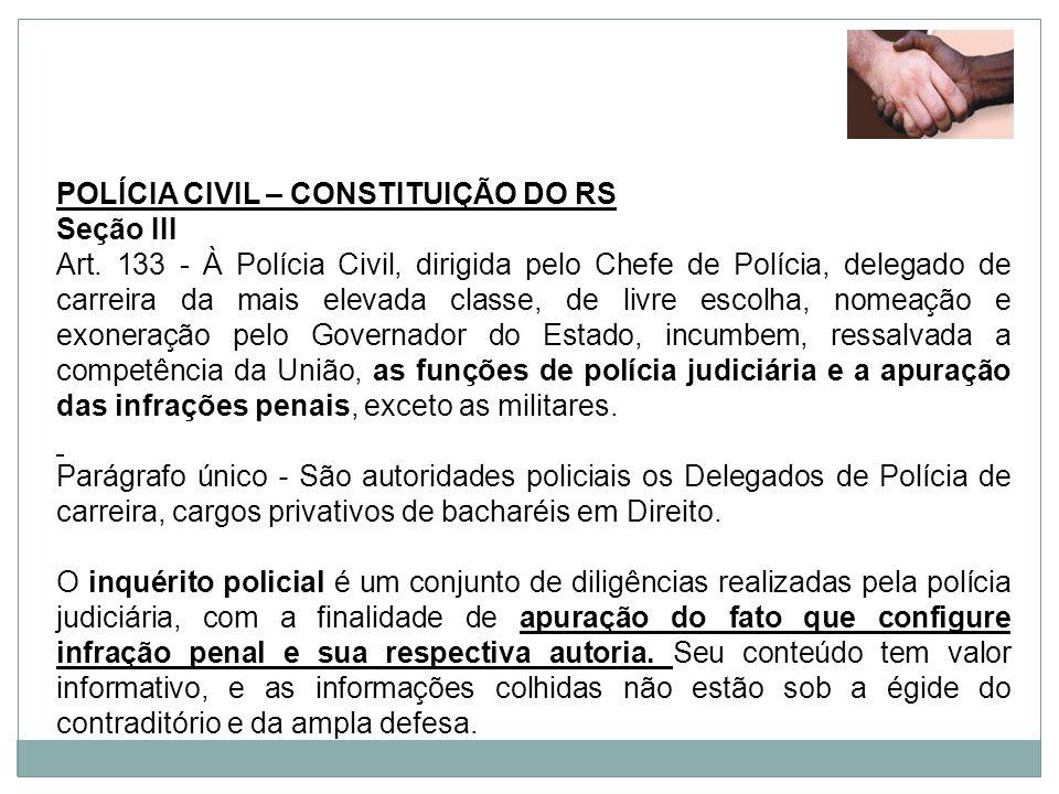 POLÍCIA CIVIL – CONSTITUIÇÃO DO RS