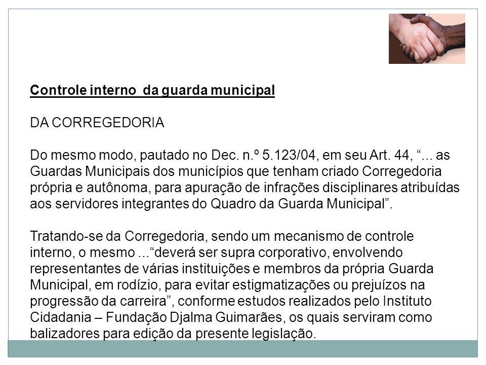 Controle interno da guarda municipal
