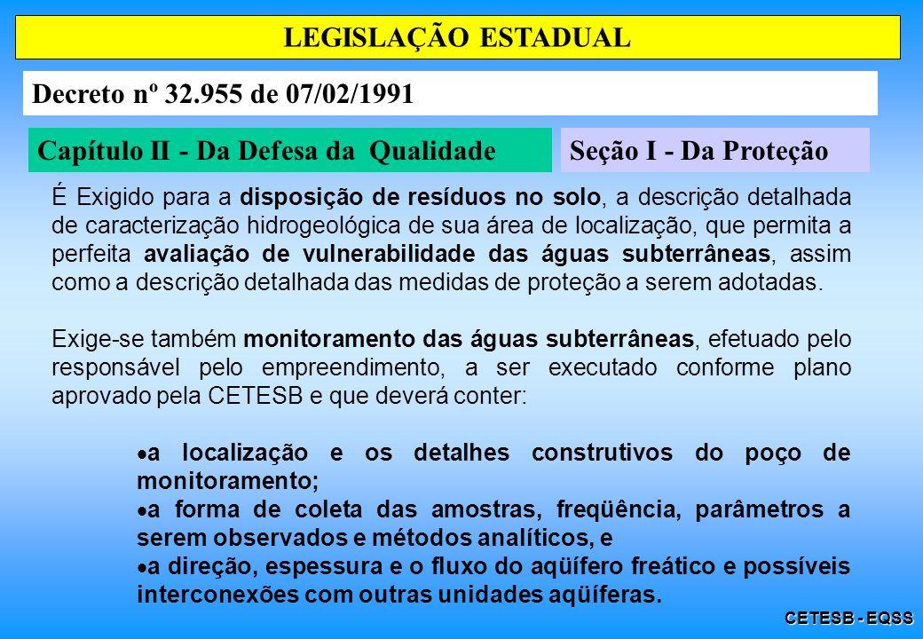 Capítulo II - Da Defesa da Qualidade Seção I - Da Proteção