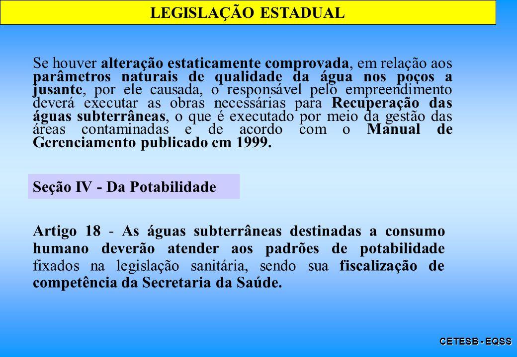 Seção IV - Da Potabilidade