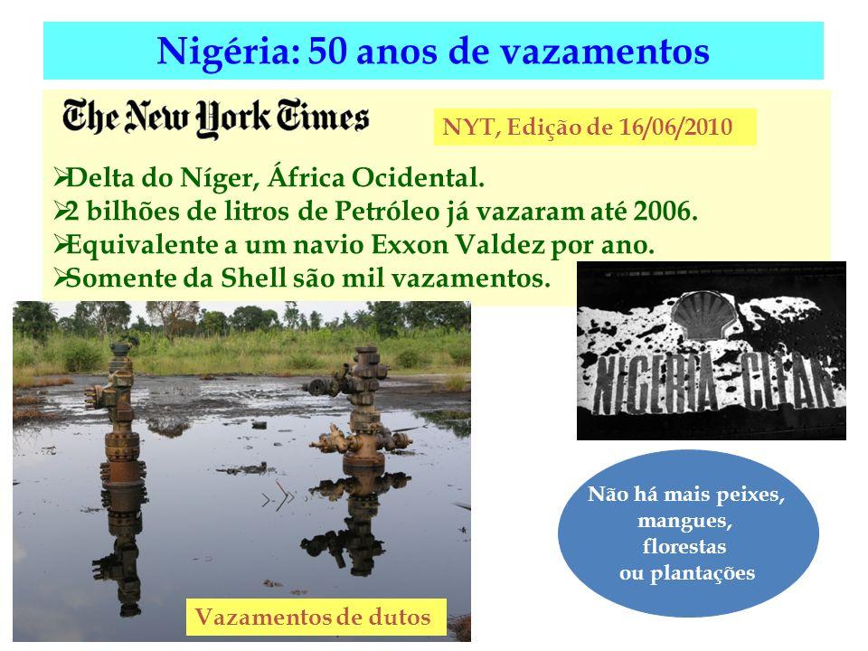 Nigéria: 50 anos de vazamentos