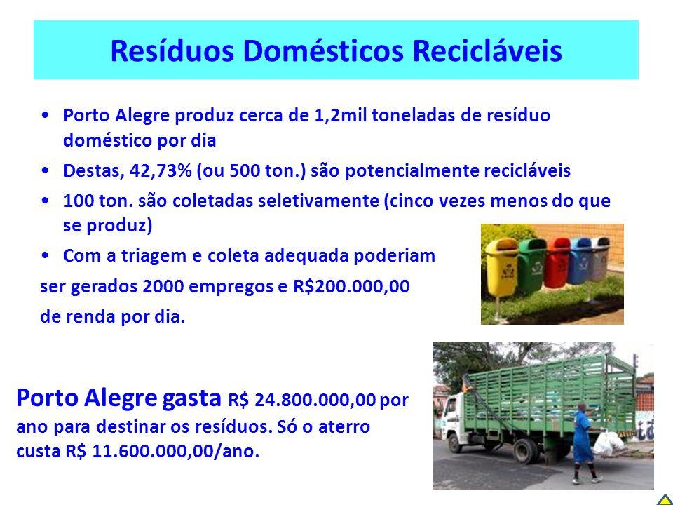 Resíduos Domésticos Recicláveis