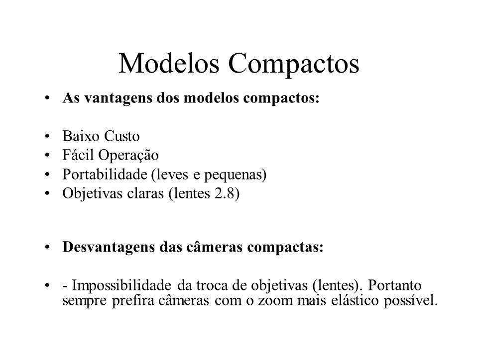 Modelos Compactos As vantagens dos modelos compactos: Baixo Custo