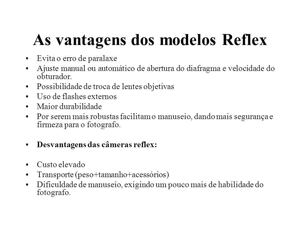 As vantagens dos modelos Reflex