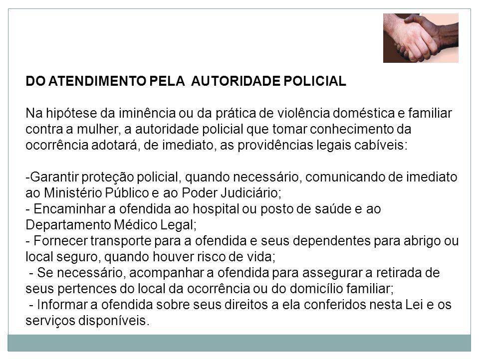 DO ATENDIMENTO PELA AUTORIDADE POLICIAL