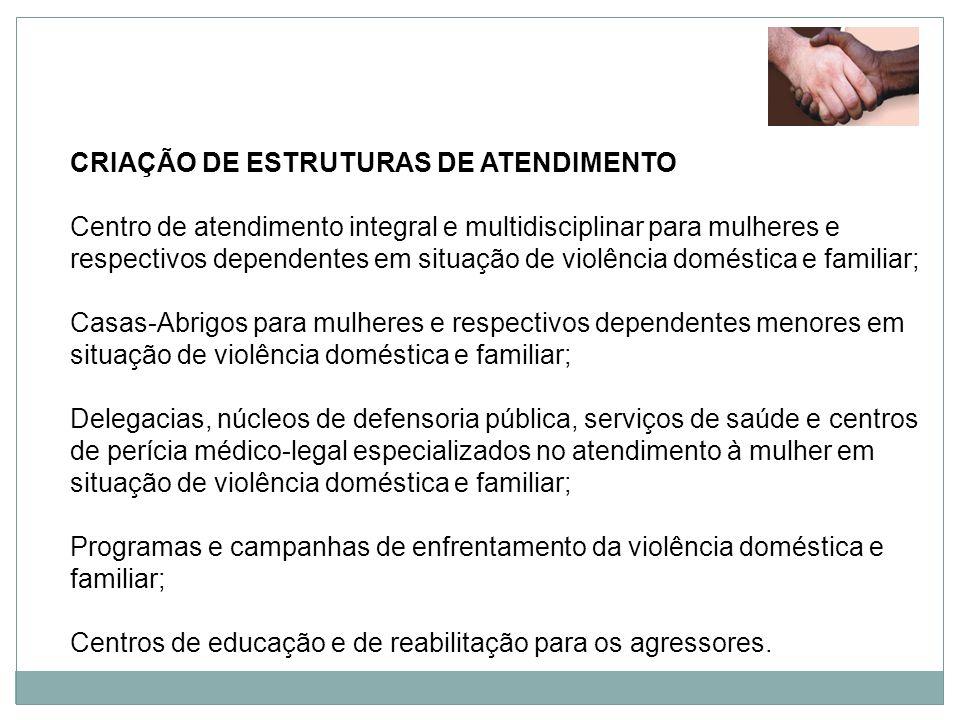 CRIAÇÃO DE ESTRUTURAS DE ATENDIMENTO