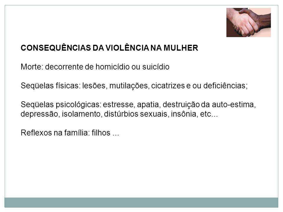 CONSEQUÊNCIAS DA VIOLÊNCIA NA MULHER