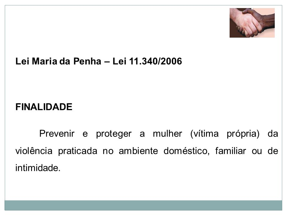 Lei Maria da Penha – Lei 11.340/2006