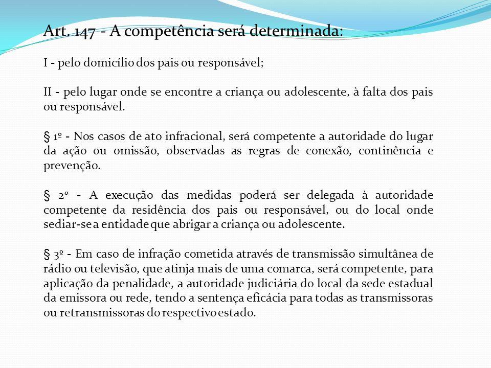 Art. 147 - A competência será determinada: