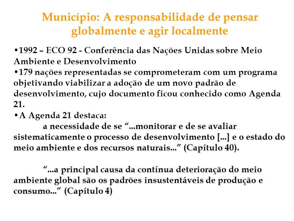 Município: A responsabilidade de pensar globalmente e agir localmente