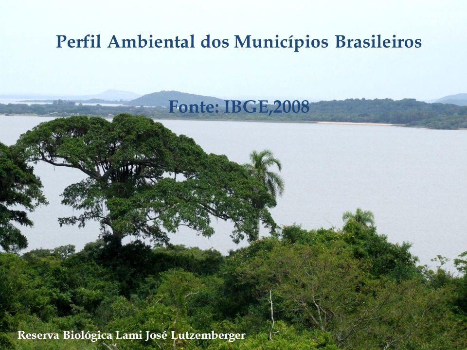 Perfil Ambiental dos Municípios Brasileiros Fonte: IBGE,2008