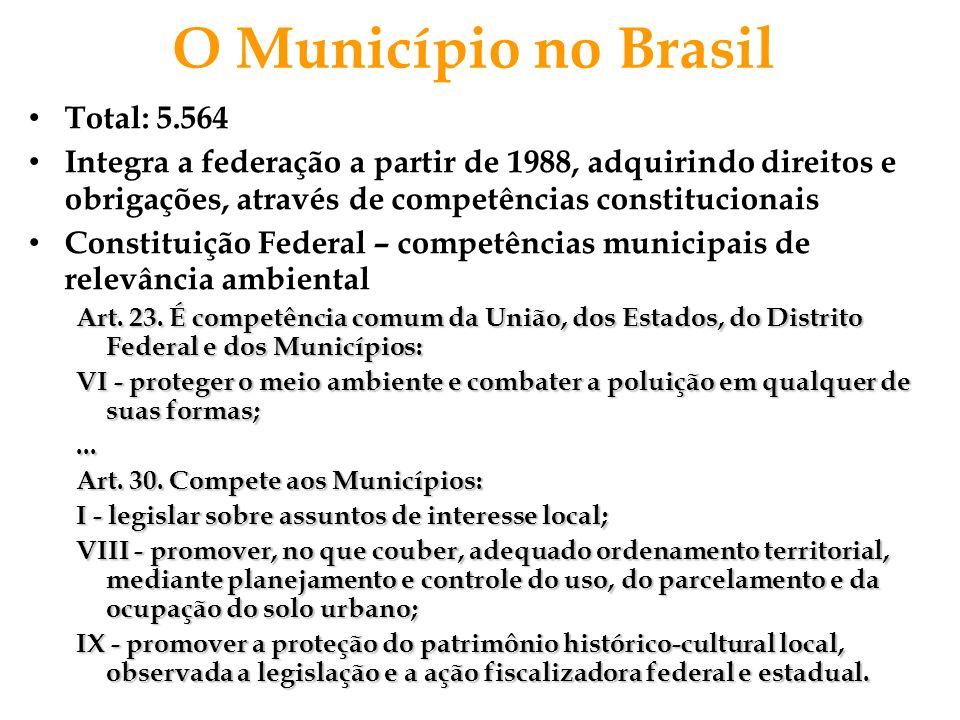 O Município no Brasil Total: 5.564
