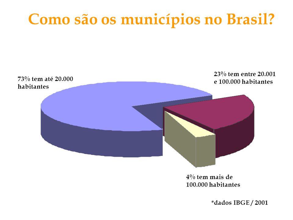 Como são os municípios no Brasil