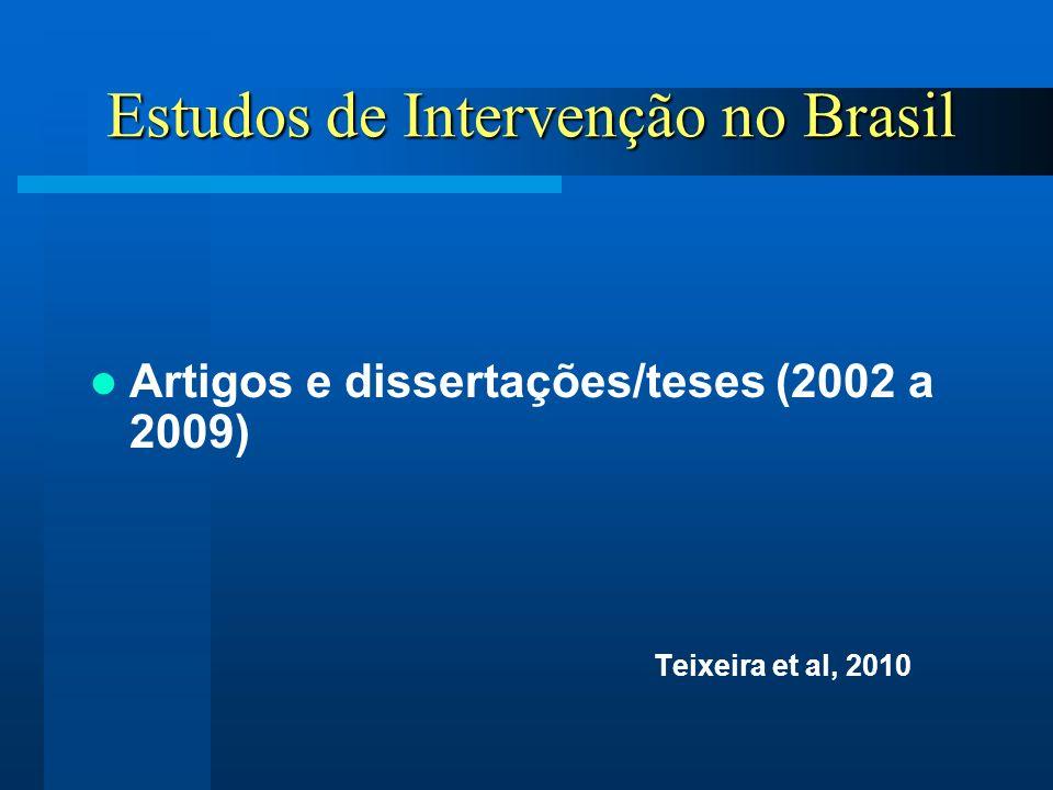 Estudos de Intervenção no Brasil