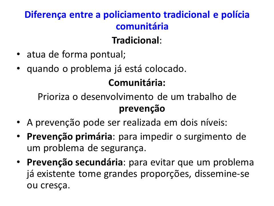 Diferença entre a policiamento tradicional e polícia comunitária
