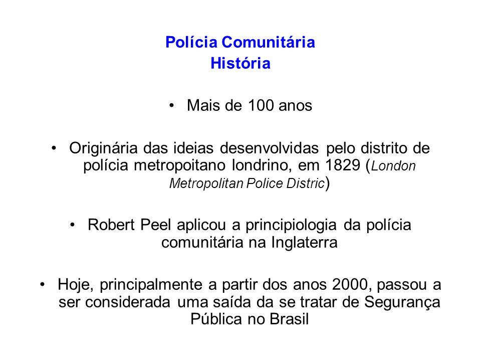 Polícia Comunitária História. Mais de 100 anos.