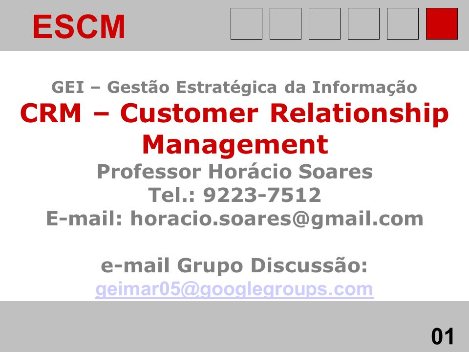 ESCM 01 geimar05@googlegroups.com