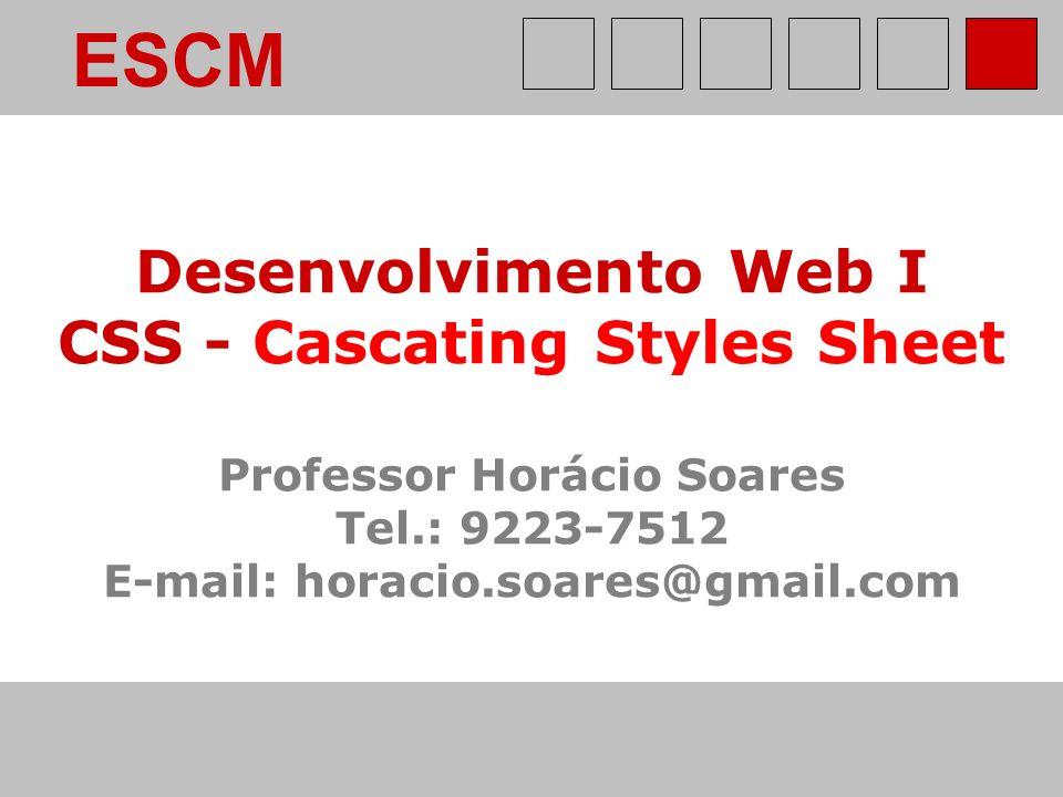 ESCM Desenvolvimento Web I