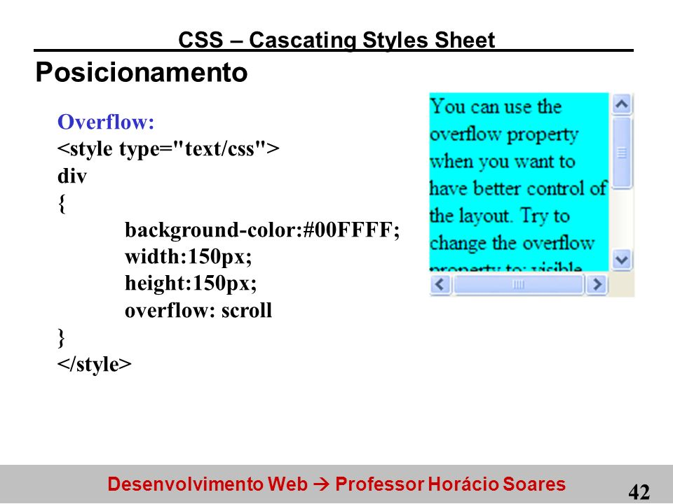 CSS – Cascating Styles Sheet