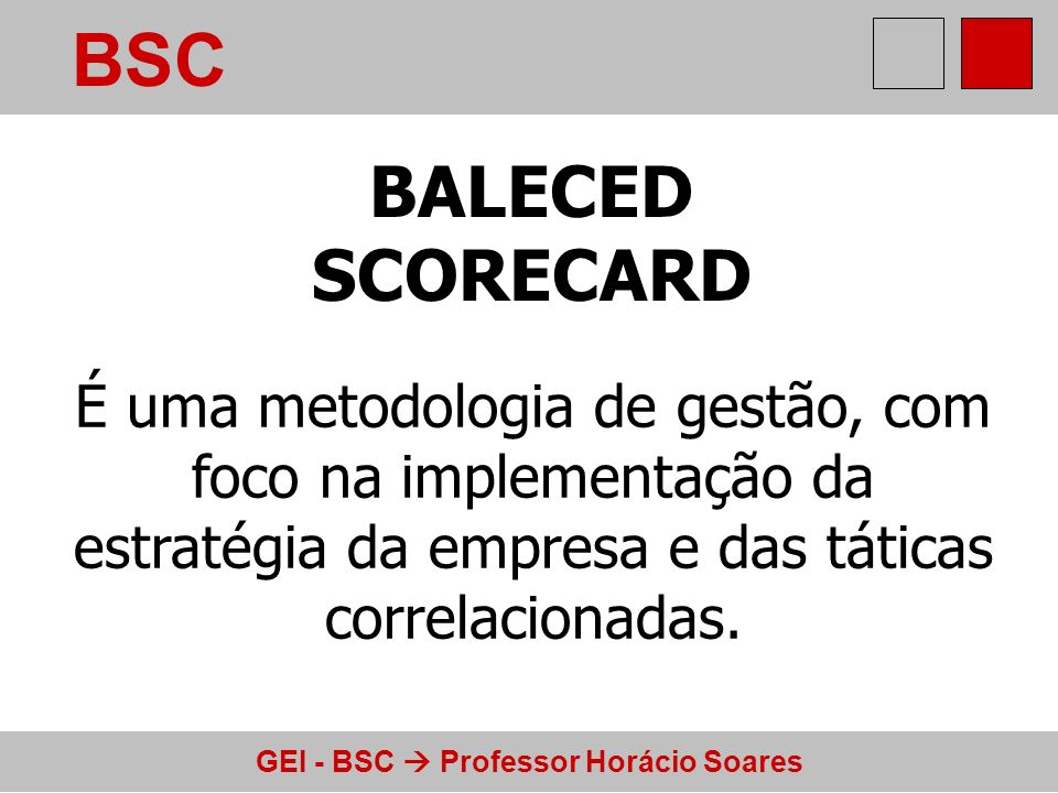 BSC BALECED. SCORECARD.
