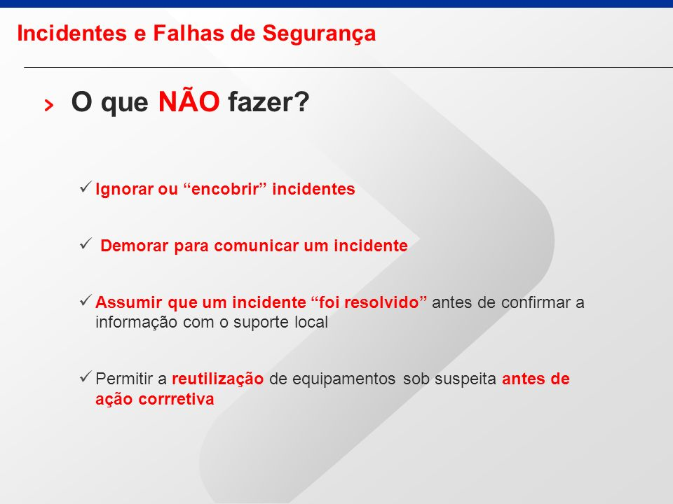 Incidentes e Falhas de Segurança