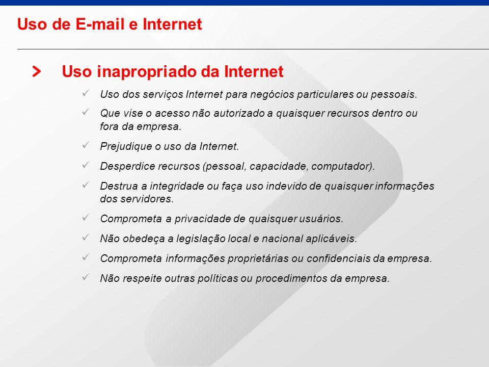 Uso de E-mail e Internet