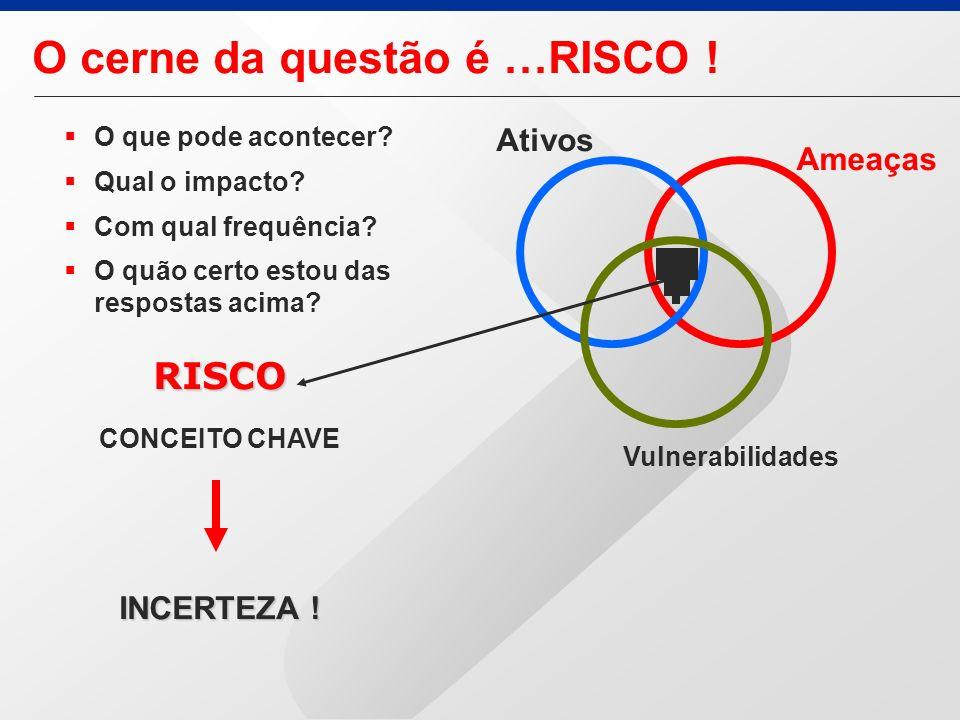O cerne da questão é …RISCO !