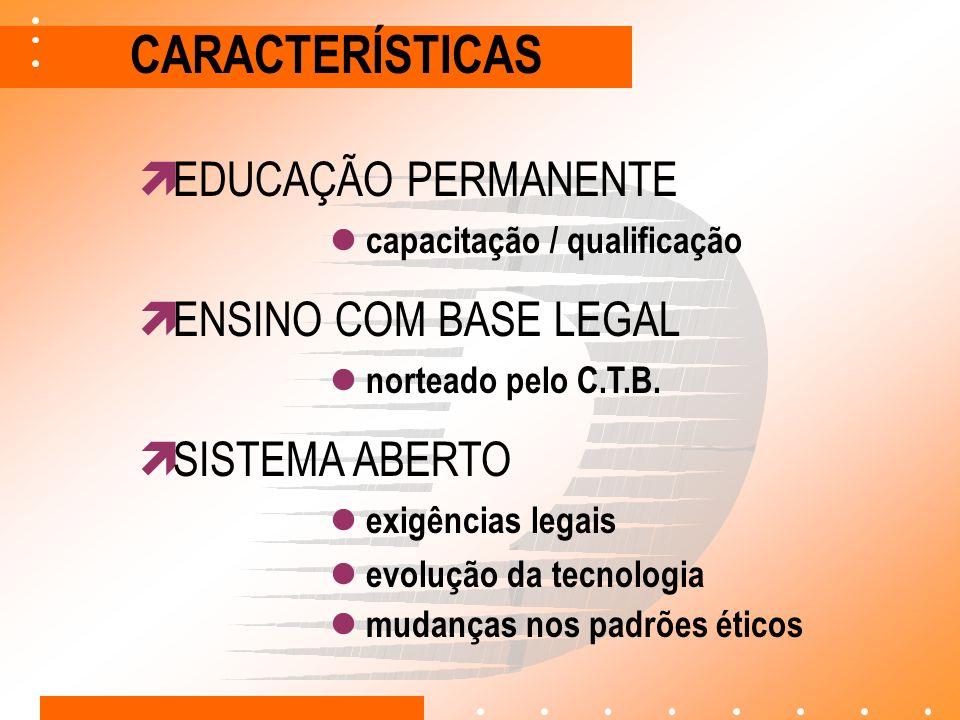 CARACTERÍSTICAS EDUCAÇÃO PERMANENTE ENSINO COM BASE LEGAL