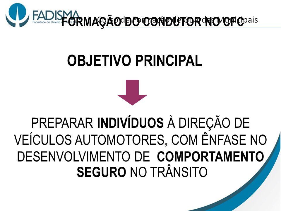 FORMAÇÃO DO CONDUTOR NO CFC