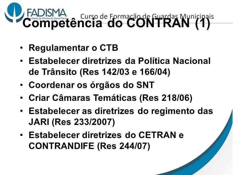 Competência do CONTRAN (1)