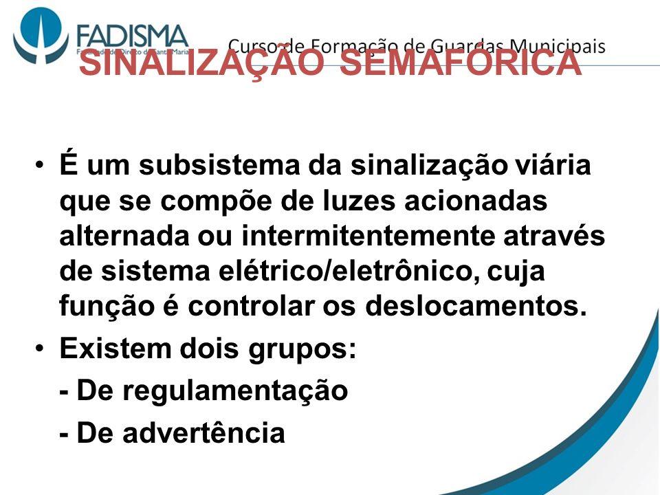 SINALIZAÇÃO SEMAFÓRICA