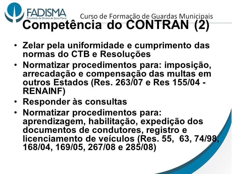 Competência do CONTRAN (2)