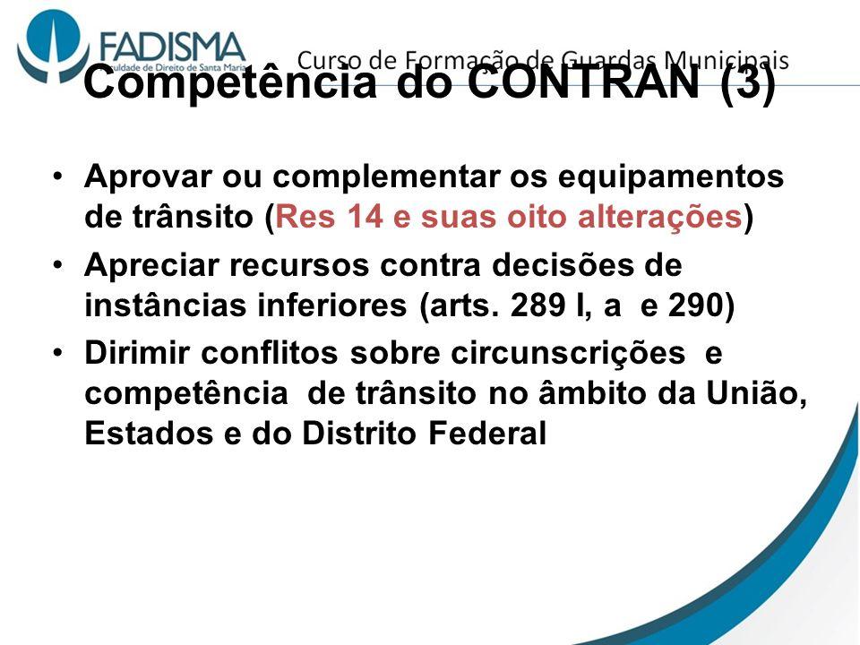 Competência do CONTRAN (3)