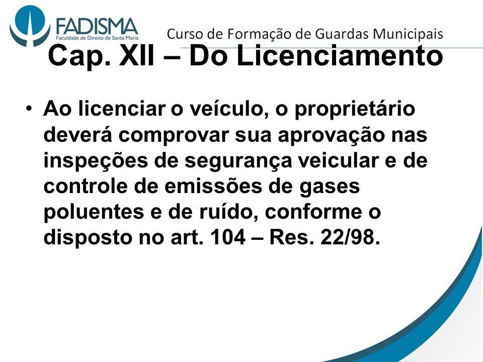 Cap. XII – Do Licenciamento