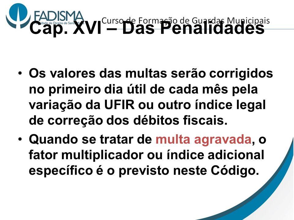 Cap. XVI – Das Penalidades
