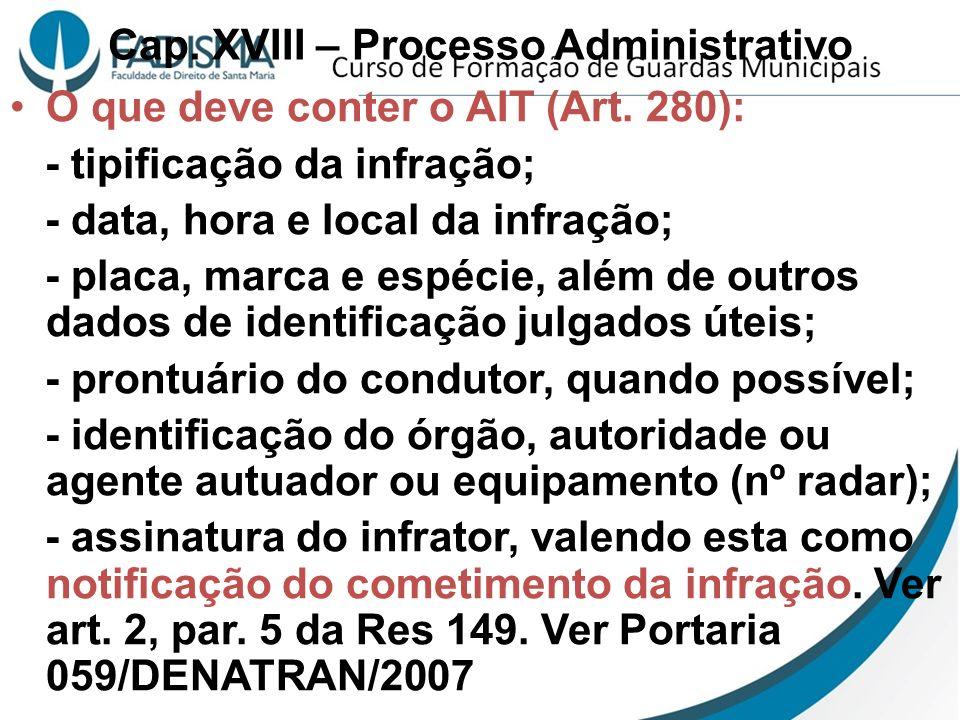 Cap. XVIII – Processo Administrativo