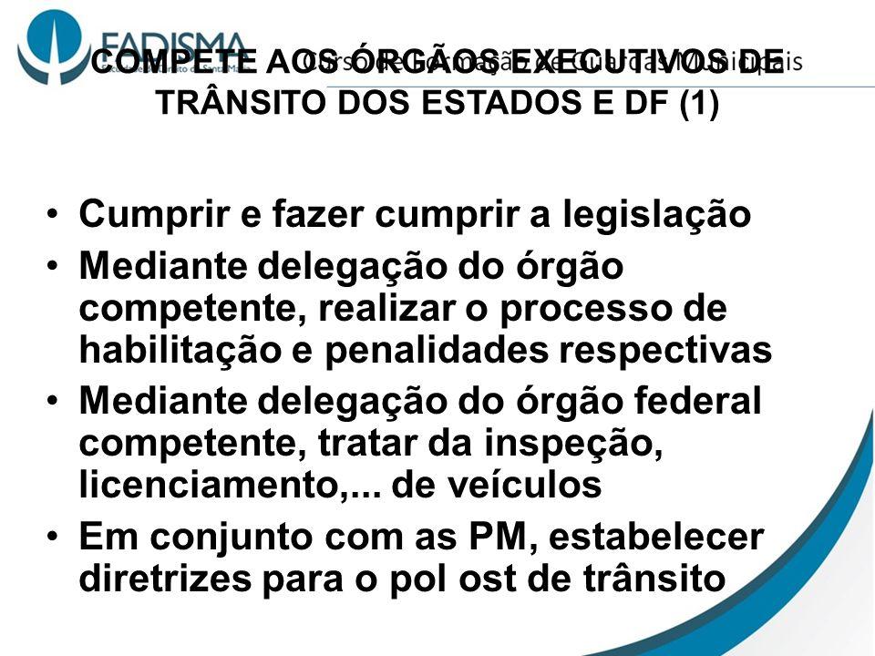 COMPETE AOS ÓRGÃOS EXECUTIVOS DE TRÂNSITO DOS ESTADOS E DF (1)