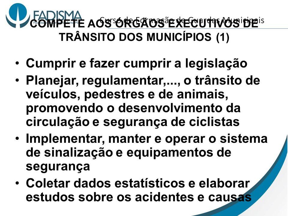 COMPETE AOS ÓRGÃOS EXECUTIVOS DE TRÂNSITO DOS MUNICÍPIOS (1)