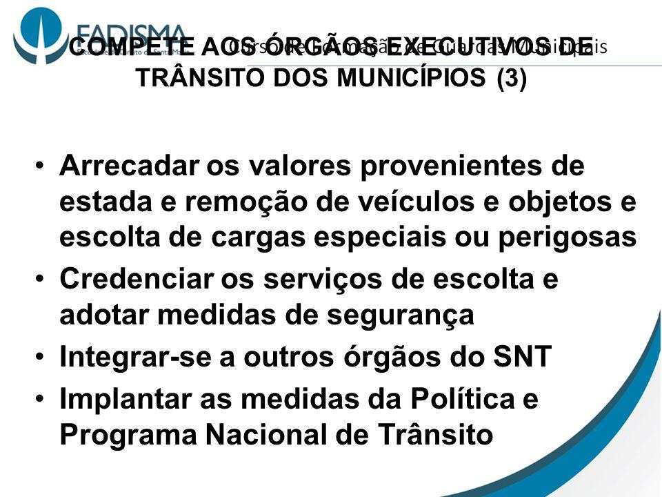 COMPETE AOS ÓRGÃOS EXECUTIVOS DE TRÂNSITO DOS MUNICÍPIOS (3)