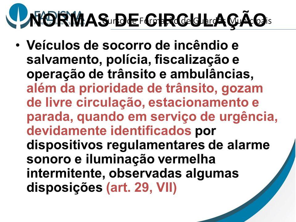 NORMAS DE CIRCULAÇÃO